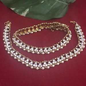Jewelry - Nwot beautiful Bollywood  2 anklets no offers !!!